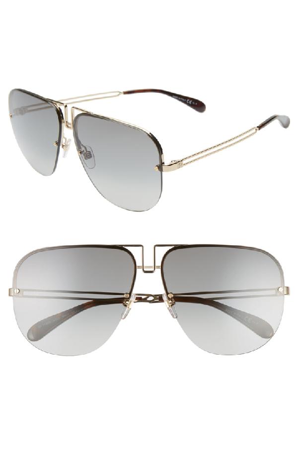 418fc4f7f3af0 Givenchy 64Mm Oversize Navigator Sunglasses - Gold
