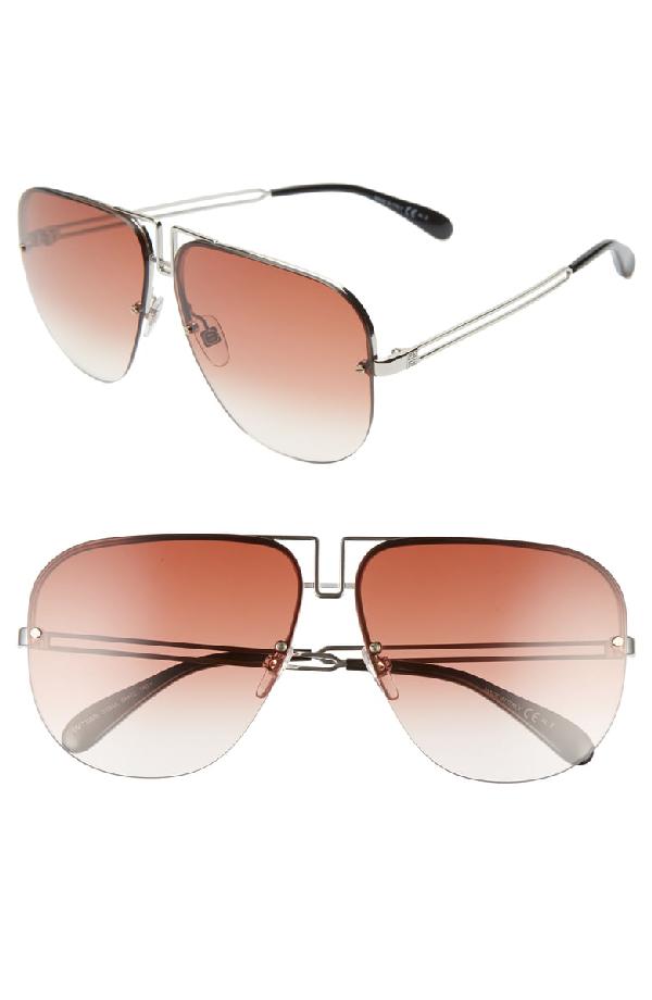 08fed4ee5 Givenchy 64Mm Oversize Navigator Sunglasses - Palladium   ModeSens