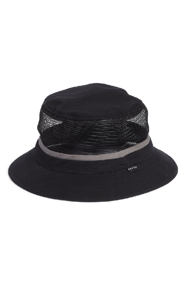 3e147eecc6be67 Brixton Hardy Mesh Inset Bucket Hat - Black In Black/ Grey   ModeSens