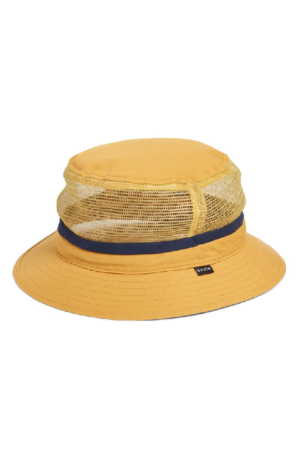483409c14cfd01 Brixton Hardy Mesh Inset Bucket Hat - Yellow In Nugget Gold   ModeSens