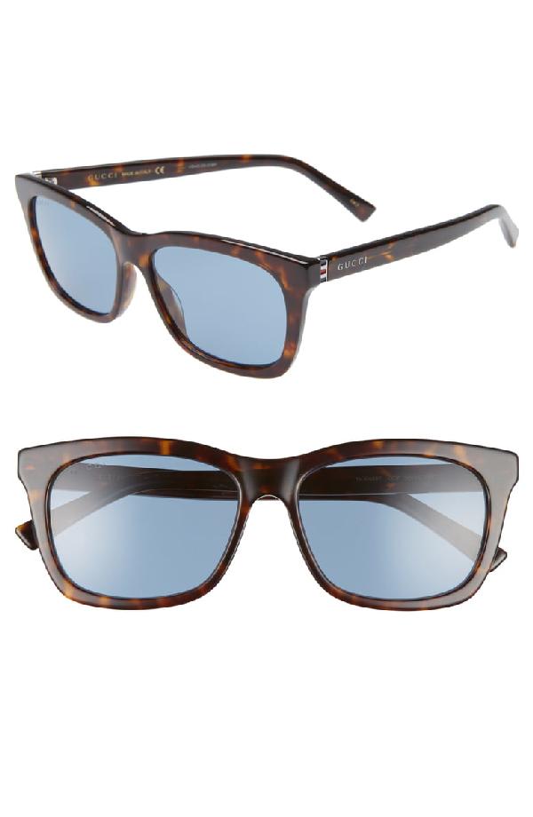e5119dce1 Gucci 56Mm Square Sunglasses - Dark Havana/ Blue | ModeSens