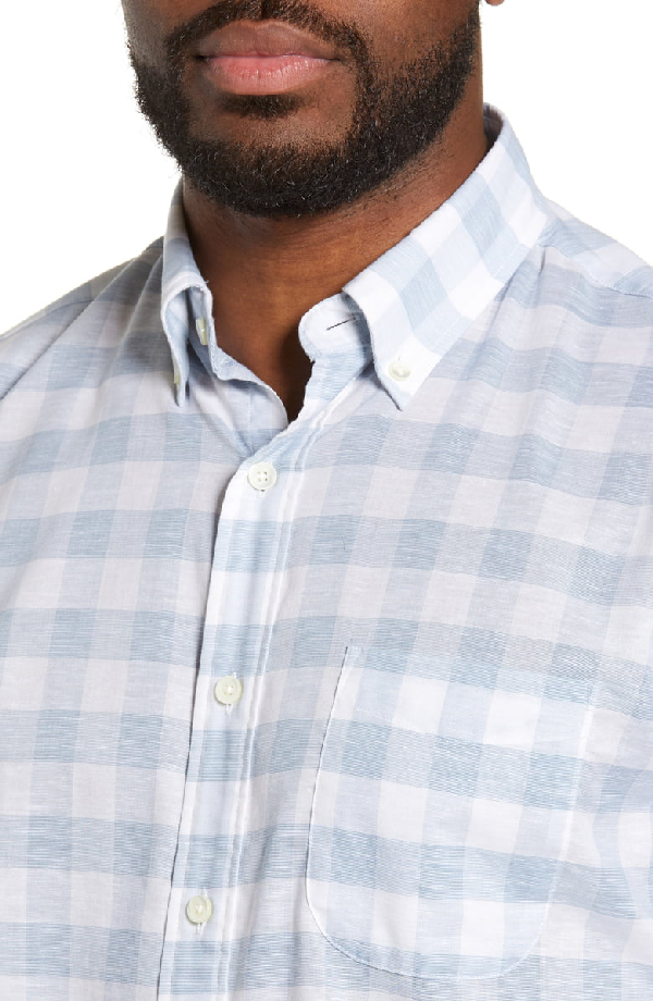 d8cf771a Faherty Summer Blend Regular Fit Buffalo Check Sport Shirt In White ...
