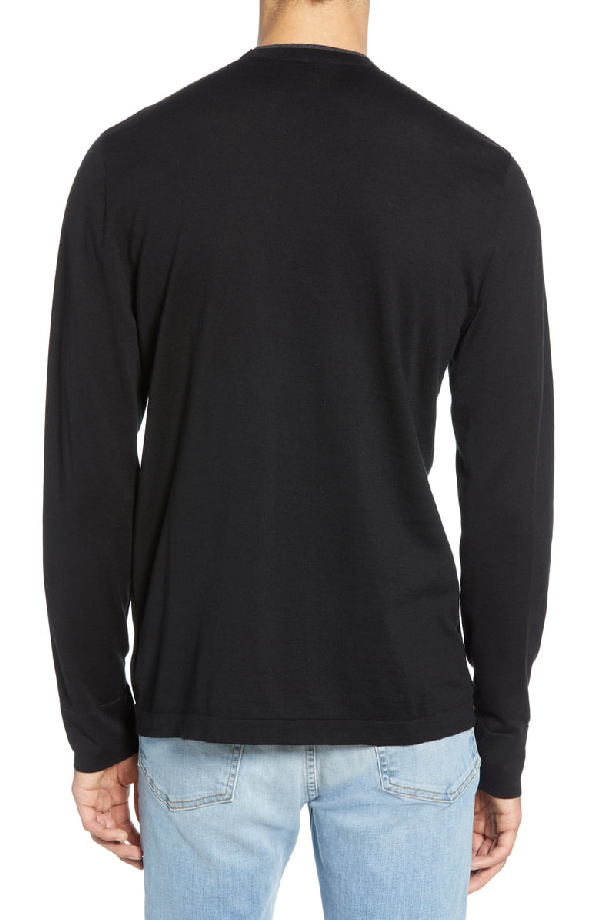 b89a0468a James Perse Slim Fit Cotton Crewneck Sweater In Black  Heather  Charcoal