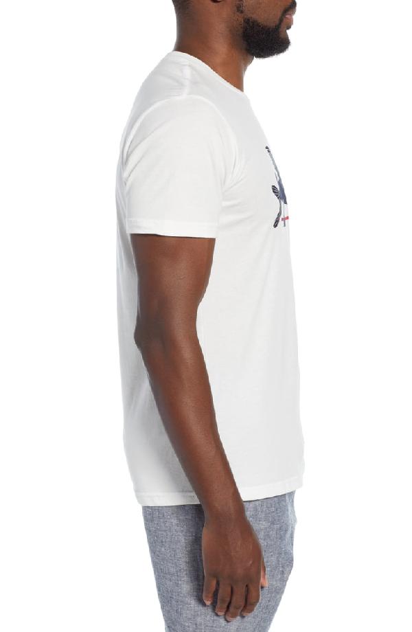 Patagonia Flying Fish Regular Fit Organic Cotton T-Shirt In White