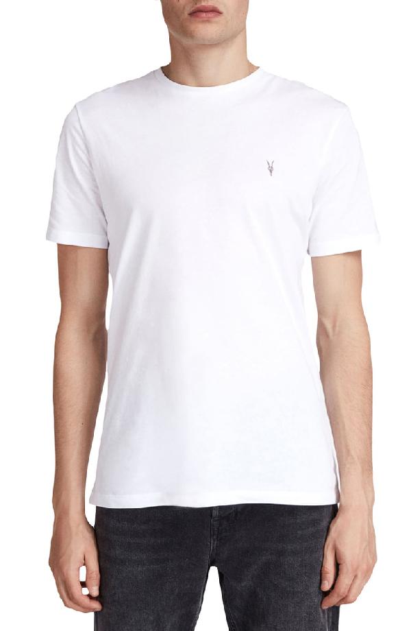 b2747990da83d2 Allsaints Brace Tonic Slim Fit Crewneck T-Shirt In Optic White ...