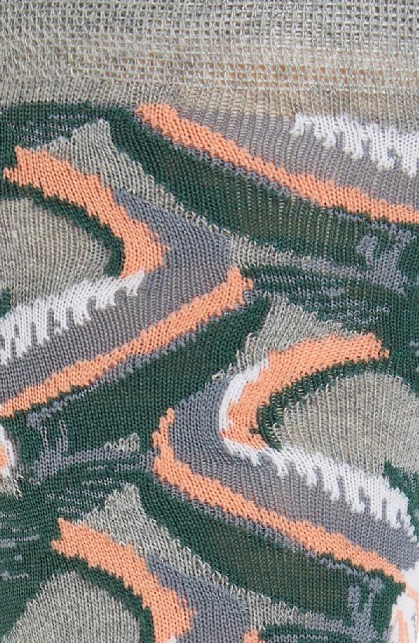 Ted Baker Betony Allover Fish Socks In Grey