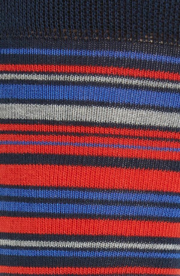 Ted Baker Holyhok Striped Socks In Red