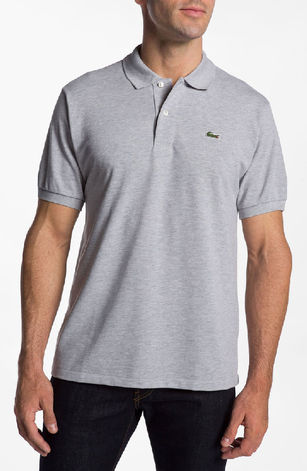 0df8e5427 Lacoste Short Sleeve Pique Polo Shirt - Classic Fit In Platinum ...