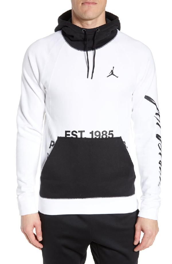 5f0e3aa6 Jordan Sportswear Greatest Fleece Pullover Hoodie In White/ Black ...