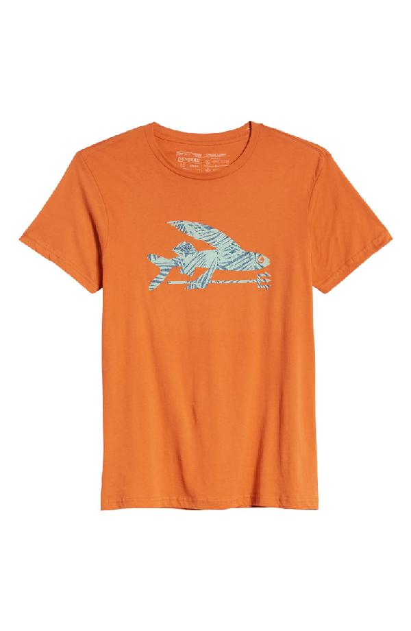 PATAGONIA FLYING FISH REGULAR FIT ORGANIC COTTON T-SHIRT,39145