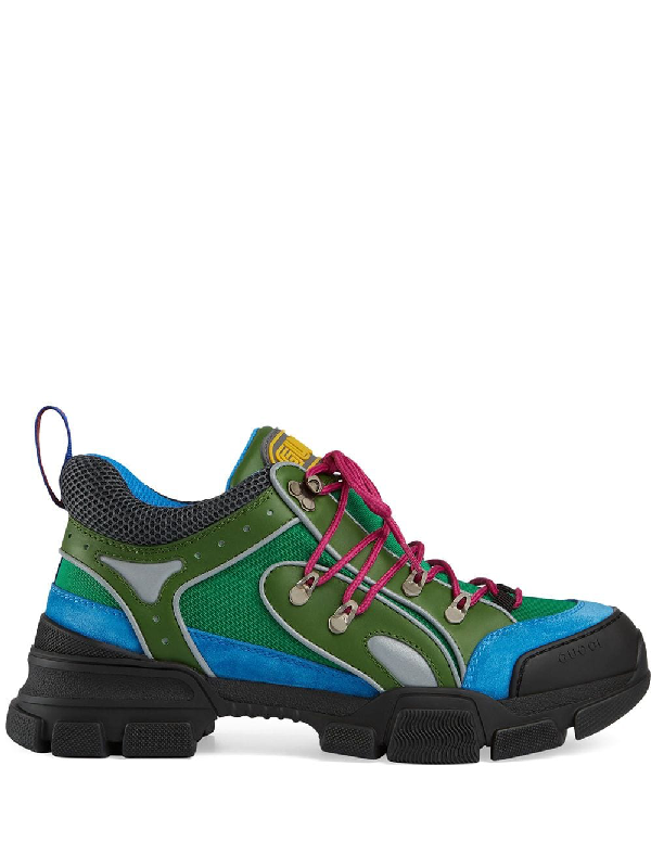 c5dc1953556 Gucci Men s Flashtrek Sneaker - Blue In 3767 Blu