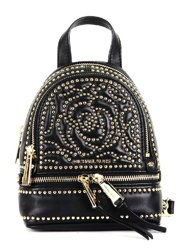 d7cc604a784f Michael Michael Kors Rhea Mini Backpack In Black | ModeSens