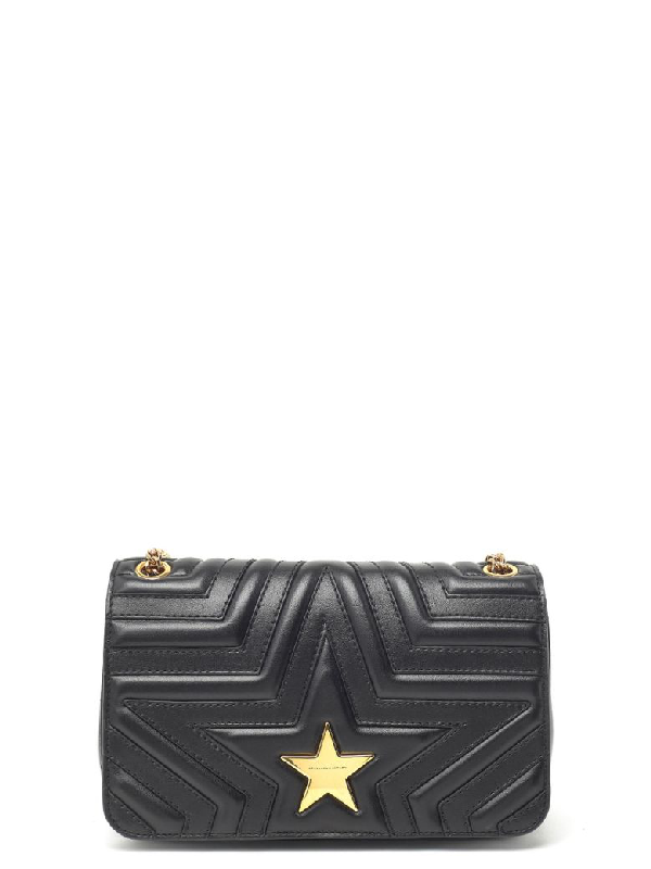 1da9507906cc Stella Mccartney Star Faux Leather Crossbody Bag - Black | ModeSens