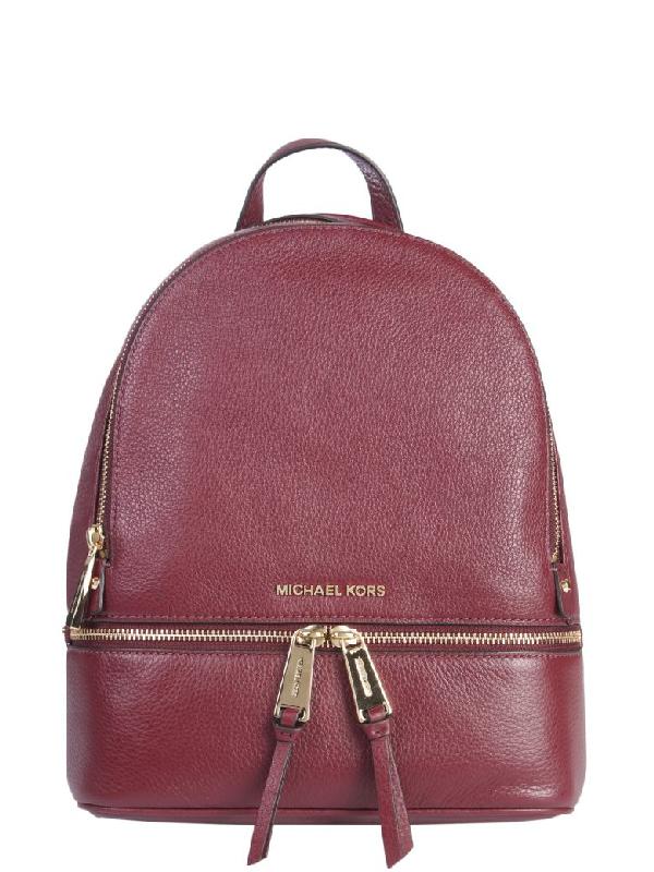d42a209ef6c7 Michael Michael Kors Rhea Medium Leather Backpack In Oxblood | ModeSens