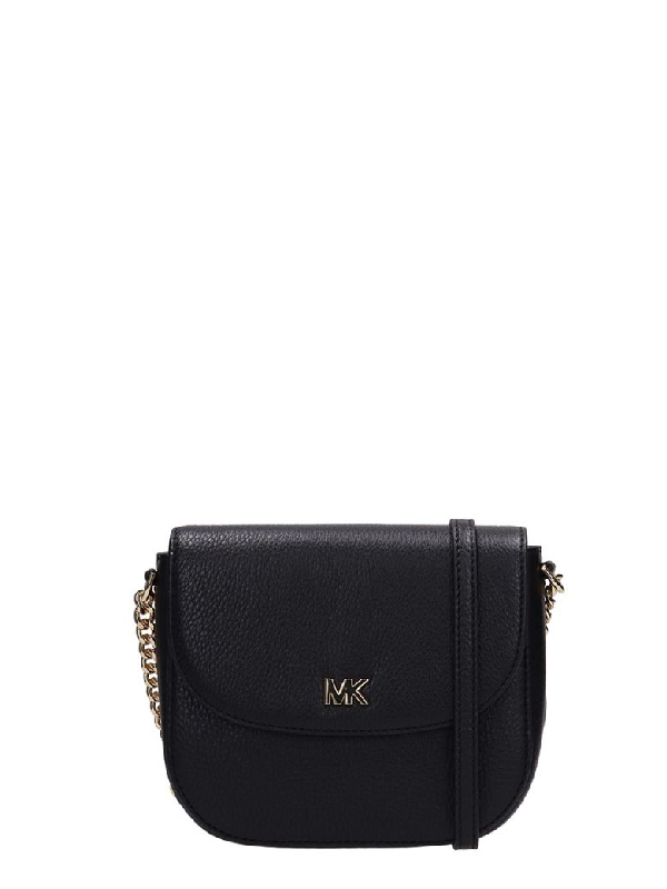 157e462b963c Michael Kors Black Grained Leather Half Dome Bag | ModeSens