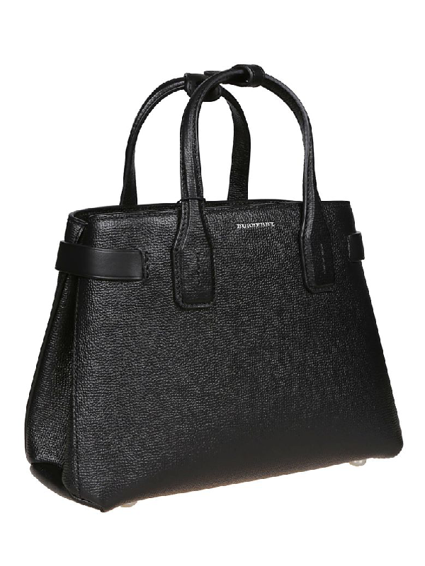 a8f7bc7bd7 Burberry The Small Banner Tote In Black | ModeSens
