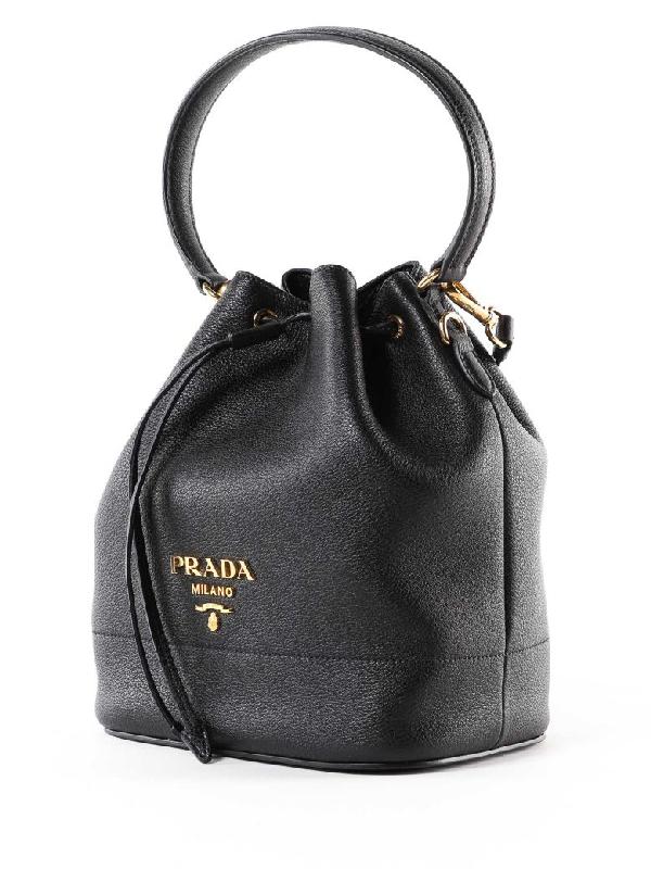 cd375071d Prada Plaque Bucket Bag In Nero | ModeSens