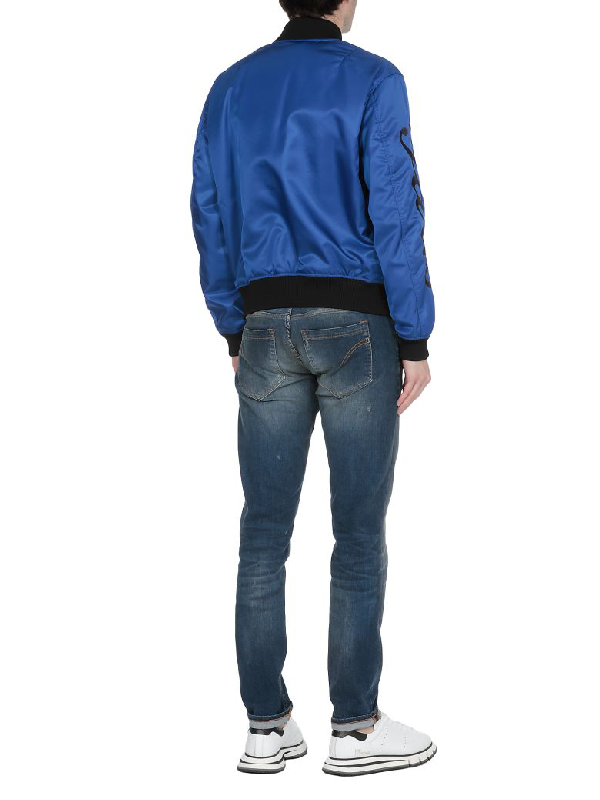 bf494c91 Kenzo Tiger-Embroidered Shell Bomber Jacket In 74 Frenchbl | ModeSens