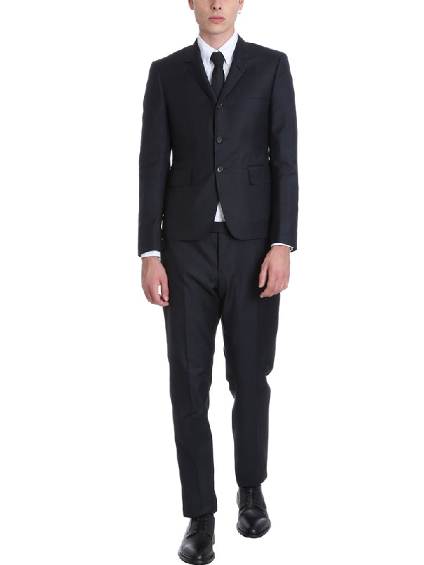 Thom Browne Grey Wool Suit