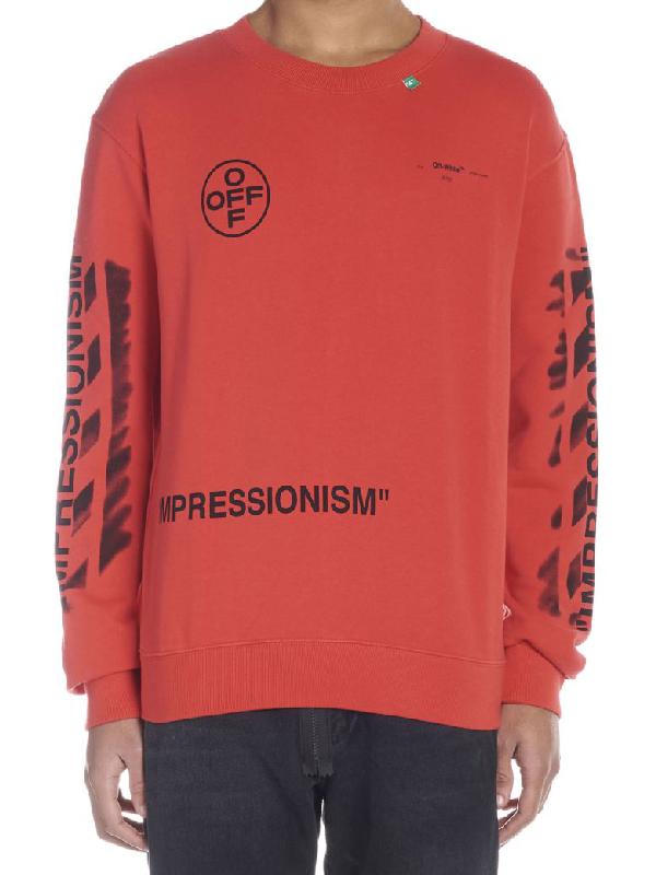 4ab9ba2ff69 Off-White Diagonal Stencil Sweatshirt - Red