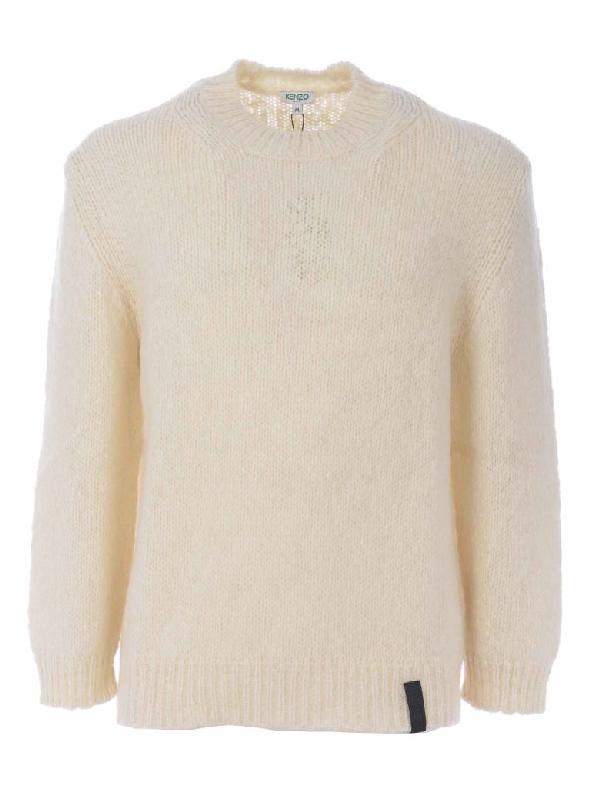 f99c5795da3 Kenzo Chunky Knit Sweater In White   ModeSens