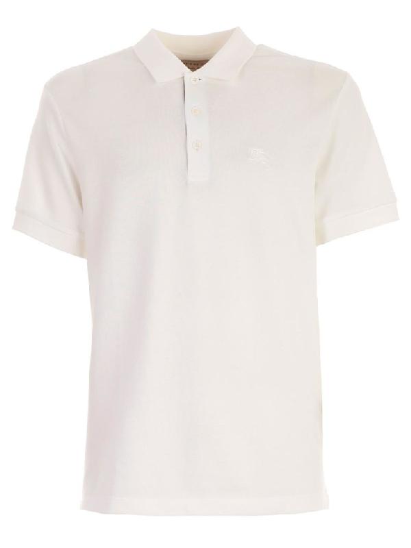 c58158bd Burberry Contrast Collar Polo Shirt In White | ModeSens