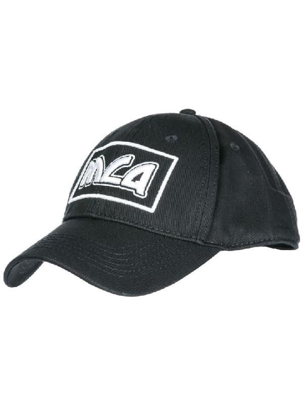 f516e433ef398 Mcq By Alexander Mcqueen Mcq Alexander Mcqueen Black Embroidered Metal Logo  Cap