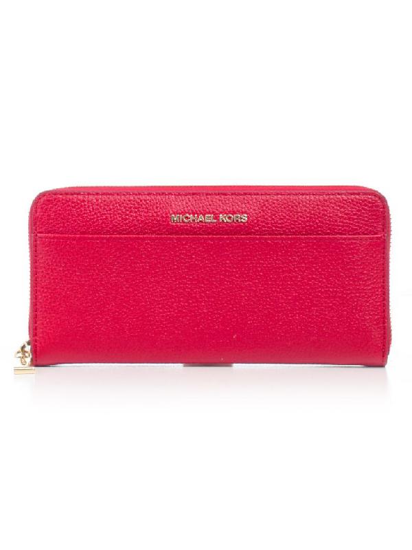39bd4941f4d078 Michael Michael Kors Grained Zip Around Wallet In Bright Red | ModeSens