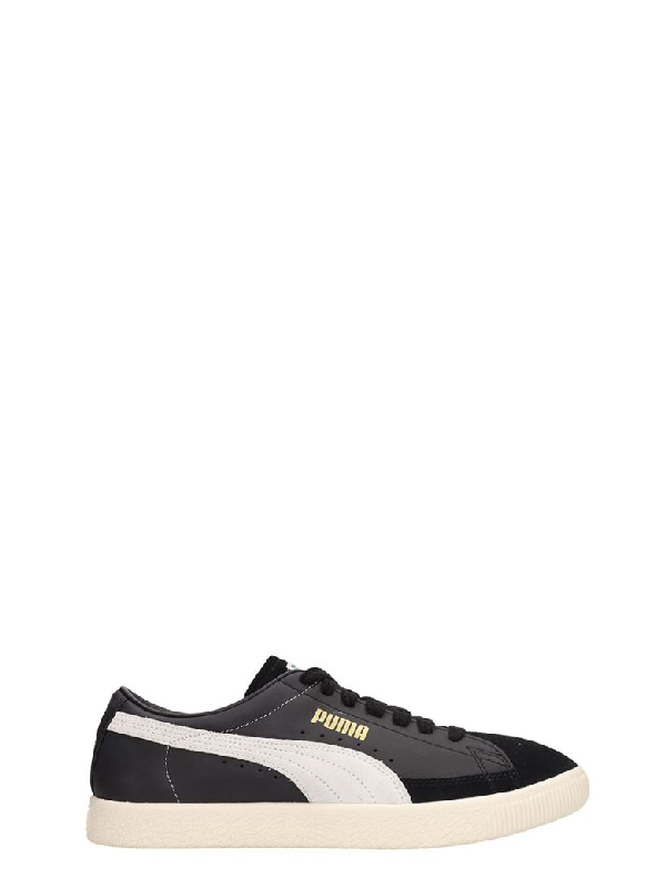 new product 9dc04 79708 Basket 90680 Black Leather And Suede Sneakers