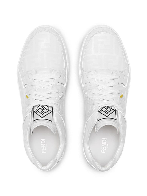 14e3c37b Color Changing Fancy Logo Low-Top Sneakers in White