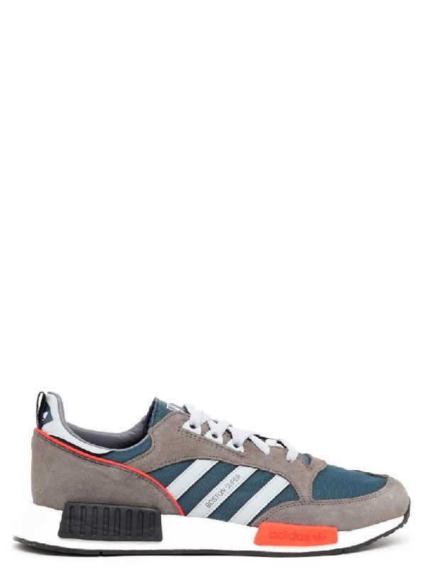 9fcb649c5fb4 Adidas Originals Adidas Never Made Multicoloured Boston Super R1 Suede  Sneakers - Farfetch In Grey