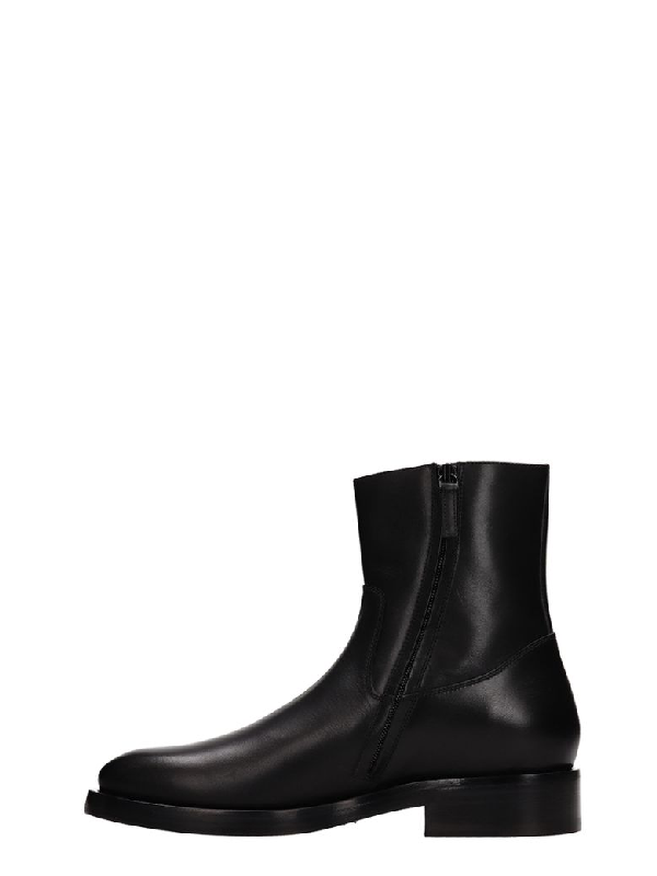 Balenciaga Men's Leather Chelsea Boots With Stamped Logo In Black