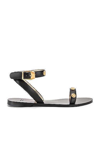 b0cf33870a Versace Medusa Stud Tribute Sandals In Black | ModeSens