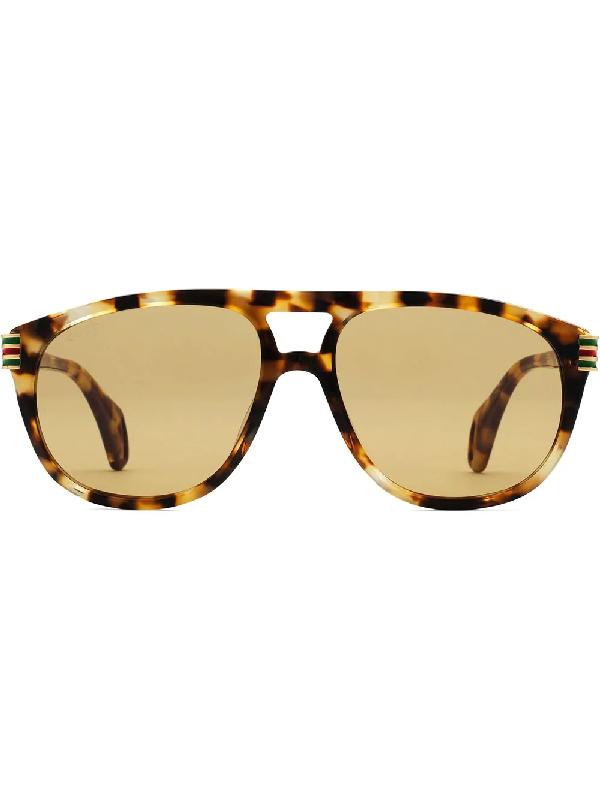 672db33ecc837 Gucci Aviator Sunglasses With Enamel Web In 2329