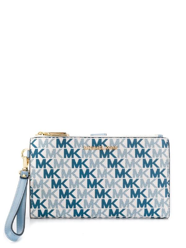 e72d942e1ec2 Michael Michael Kors Monogram Purse - Blue | ModeSens