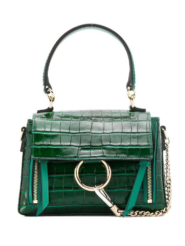 6ce3154aefc ChloÉ Ring Detail Tote Bag - Green | ModeSens
