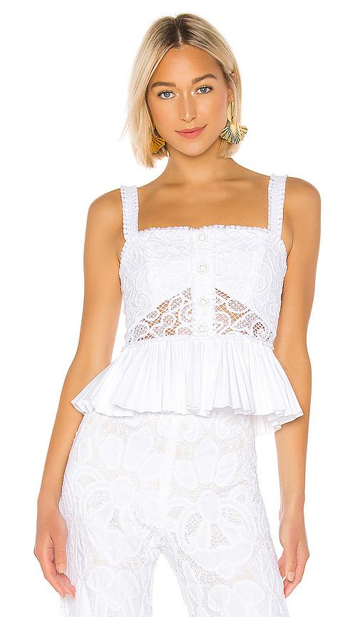 d6c13bb5 Alexis Azra Crochet Top - White | ModeSens