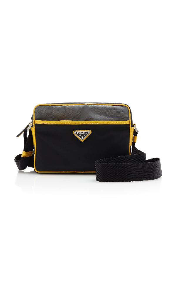 6de2c670e96e Prada Two-Tone Nylon Crossbody Bag In Black | ModeSens