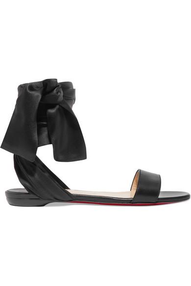 huge selection of c594a 25e97 Sandale Du Desert Leather And Satin Sandals in Black
