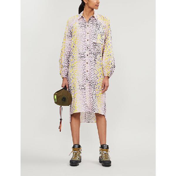 d0f8c39111ee Ganni Leopard-Print Cotton-Poplin Midi Shirt Dress In Phantom | ModeSens