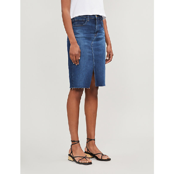 c0f70334cb J Brand Trystan Fitted Denim Skirt In Arcade | ModeSens