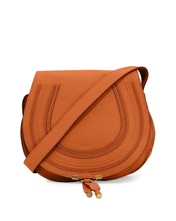 7dcd6637662 ChloÉ Marcie Medium Leather Crossbody Bag, Gray In Tan | ModeSens