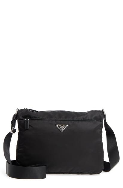 db616ce529f0 Prada Large Nylon Crossbody Bag - Black