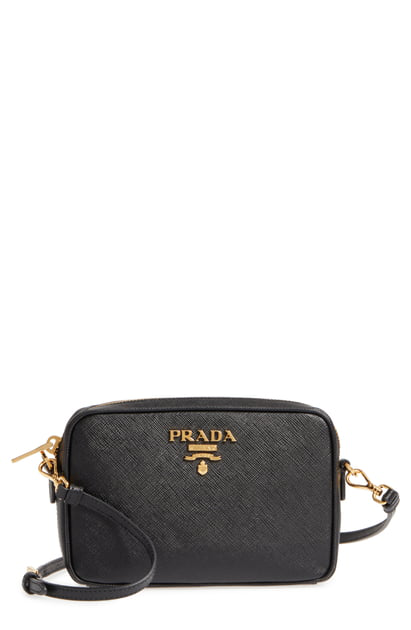 8b15522a789f Prada Saffiano Leather Camera Bag In Nero | ModeSens