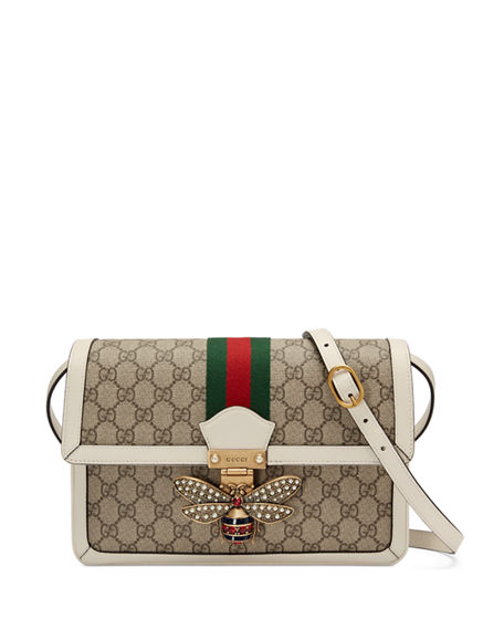 67d80ae78002 Gucci Queen Margaret Medium Gg Supreme Shoulder Bag, Beige White ...
