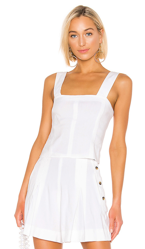 dfb5ae9dc797d6 Vince Wide-Strap Cropped Shell, White In Optic White | ModeSens