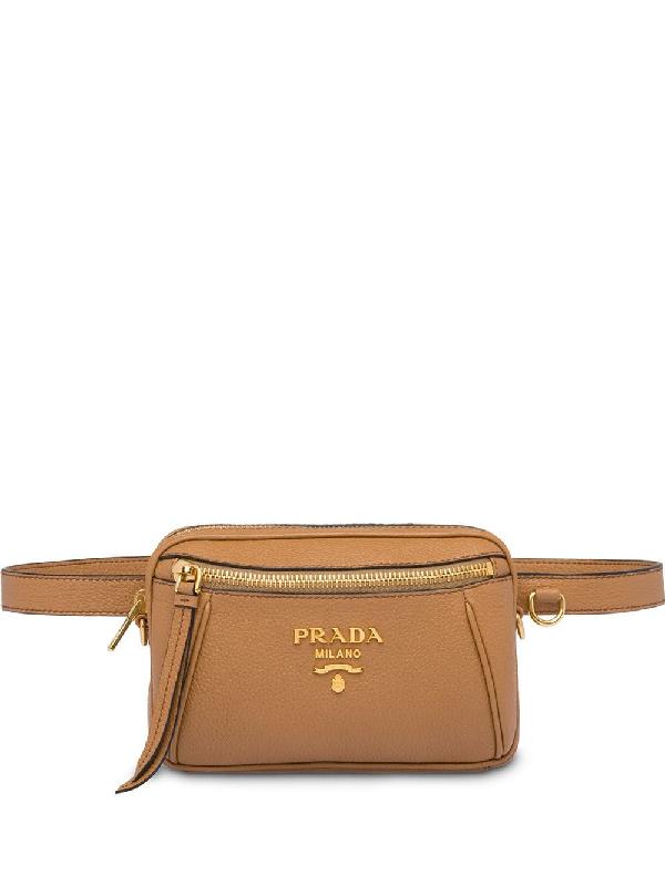 a01552d588e8 Prada Saffiano Leather Belt Bag - Brown In F098L Caramel | ModeSens