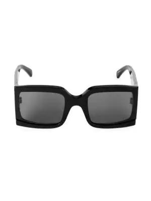 df146900045f Celine 60Mm Square Sunglasses In Black   ModeSens