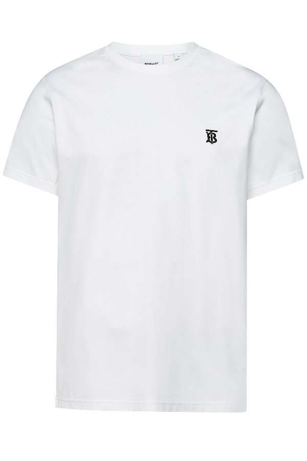 Burberry Parker Embroidered Logo T-Shirt In Grey
