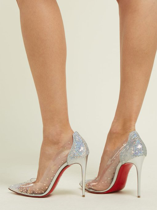promo code ecc41 b16d1 Degrastrass 100 Embellished Pvc And Leather Pumps in Silver